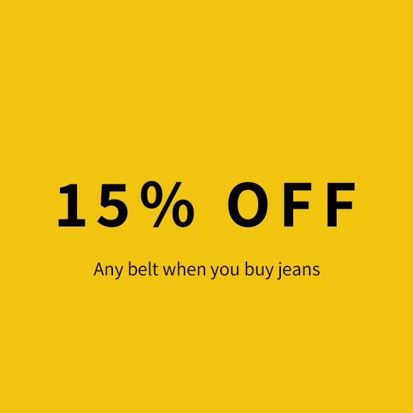 15% Off Any Belt When You Purchase Mens Jeans