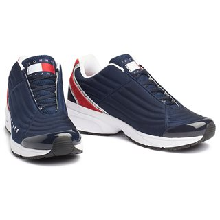 Tommy Hilfiger Footwear Red / White / Blue Heritage Mixed Panel Trainers