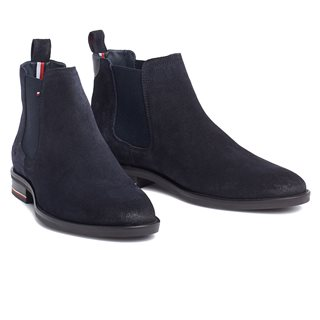 Tommy Hilfiger Footwear Midnight Signature Hilfiger Suede Chelsea Boots