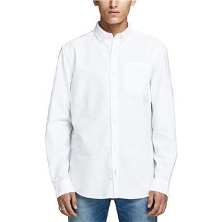Jack & Jones Essentials White Slim Fit Longsleeve Oxford Shirt