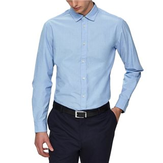 Selected Homme Light Blue Slim Fit Long Sleeve Shirt