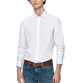 Selected Homme Bright White Slim Fit Long Sleeve Shirt