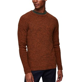 Selected Homme Caramel Cafe Cotton Knitted Pullover