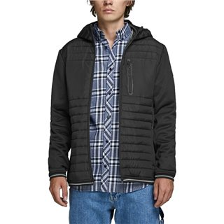 Jack & Jones Core Black Padded Detail Puffer Jacket