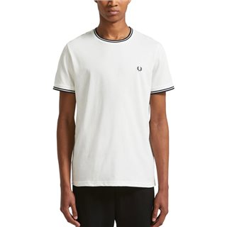 Fred Perry Snow White Twin Tipped T-Shirt
