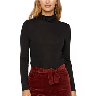 Vero Moda Black Carla Long Sleeve High Neck Top