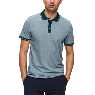 Selected Homme Rain Forest Regular Fit Short Sleeve Joe Polo Shirt