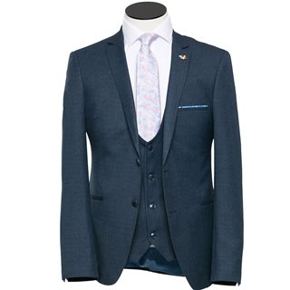 Benetti Teal Ollie Regular Fit 3-Piece Suit