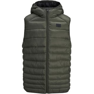 Jack & Jones Essentials Green Bomb Hooded Body Warmer