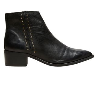 Selected Femme Black Studded Chelsea Boots