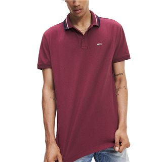 Tommy Jeans Classic Stretch Cotton Tipped Polo