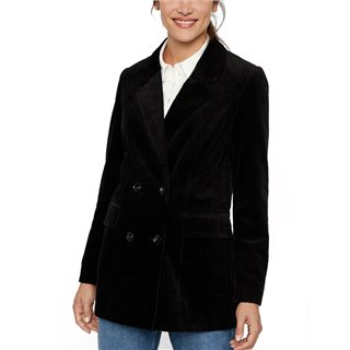Vero Moda Black Leverie Corduroy Oversized Jacket