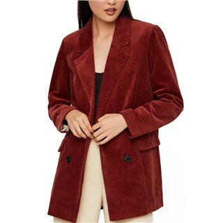 Vero Moda Brown Leverie Corduroy Oversized Jacket
