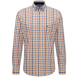 Fynch Hatton Casual Fit Plaid Twill Shirt