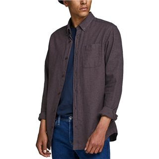 Jack & Jones Essentials Port Royale Melange Button-Down Shirt
