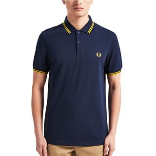 Fred Perry Carbon Blue M3600 Twin Tipped Polo Shirt
