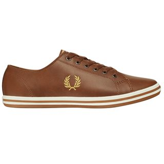 Fred Perry Tan Kingston Leather Trainer