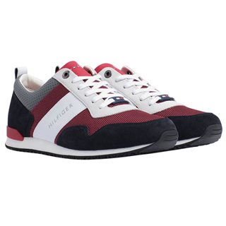 Tommy Hilfiger Footwear Red / White / Blue / Icon Mix Material Trainers