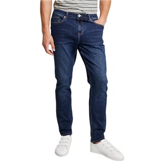 Farah Mid Denim Daubeney Stretch Denim Tapered Fit Jeans