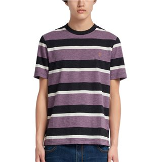 Farah Rose Taupe Marl Celtic Striped T-Shirt