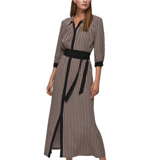 Selected Femme Black Belted Maxi Dress
