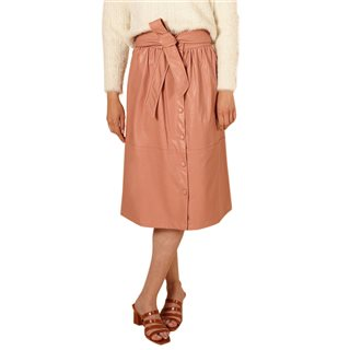 FRNCH Paris Pink Ermine Midi Skirt
