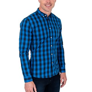 Tommy Bowe XV Kings Prussian Blue Gymea Long Sleeve Check Shirt