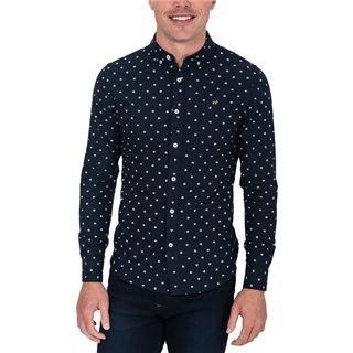 Tommy Bowe XV Kings Bleu Pyramid Print Otago Long Sleeve Shirt