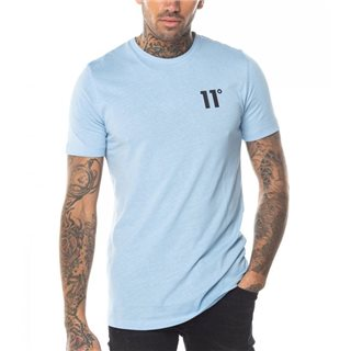 11 Degrees Coastal Blue Core Muscle Fit T-Shirt
