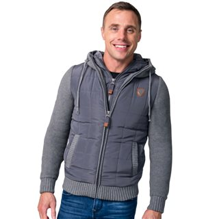 Tommy Bowe XV Kings Graphite Cape Breton Zip Up Knitted Jacket