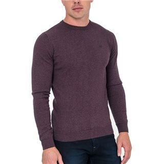 Tommy Bowe XV Kings Plum Mix Finn Valley Crew Neck Sweater