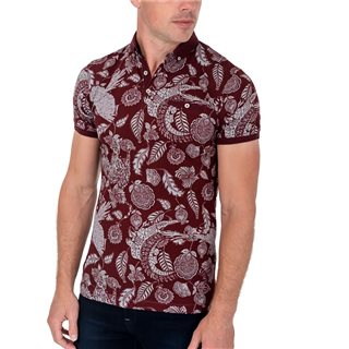 Tommy Bowe XV Kings Garnet Print Taranaki Polo Shirt