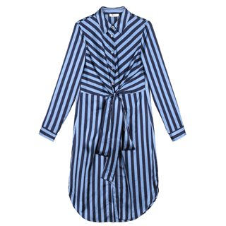 FRNCH Paris Blue Stripe Midi Dress