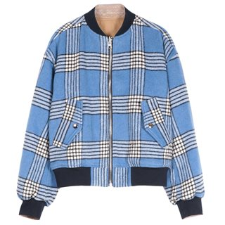 FRNCH Paris Blue Sisley Zip Jacket
