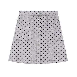 FRNCH Paris Grey Elianne Polka Dot Skirt