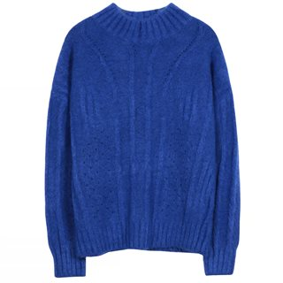 FRNCH Paris Blue Norberte Chunky Knit Sweater