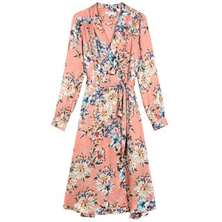 FRNCH Paris Orange Adina Floral Print Midi Dress