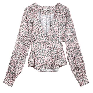 FRNCH Paris Pink Calixa Butterfly Printed Top