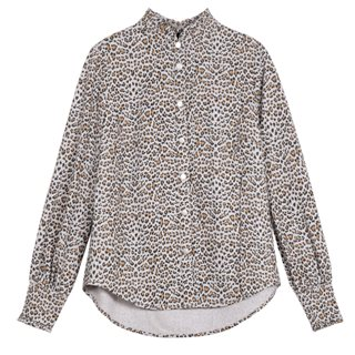 FRNCH Paris Grey Christilla Leopard Shirt