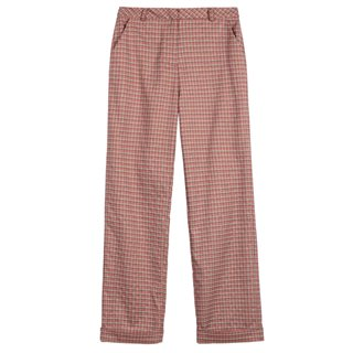 FRNCH Paris Orange Patriciane Check Trousers