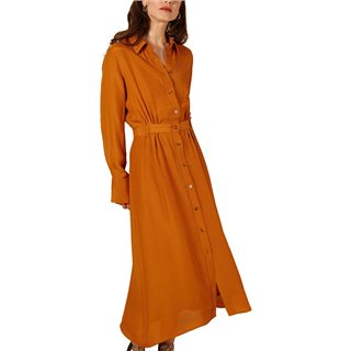 FRNCH Paris Orange Adelicia Midi Dress