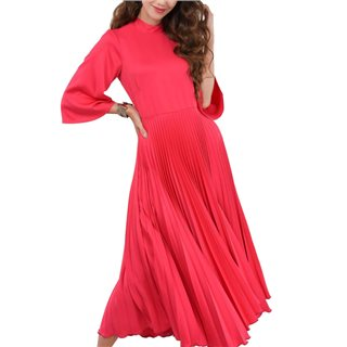 Closet London Pink High Neck Midi Dress