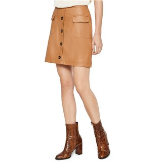 Vero Moda Tobacco Brown High Waisted Short Skirt