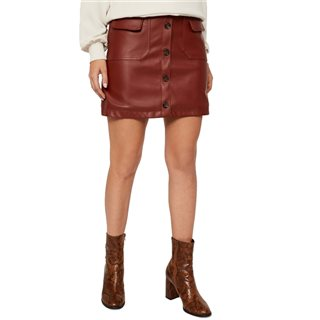 Vero Moda Madder Brown High Waisted Short Skirt
