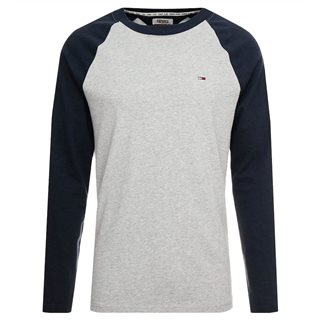 Tommy Jeans Navy Raglan Long Sleeved Top