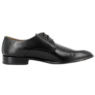 Gordon And Bros Black Mirco Leather Dress Shoes