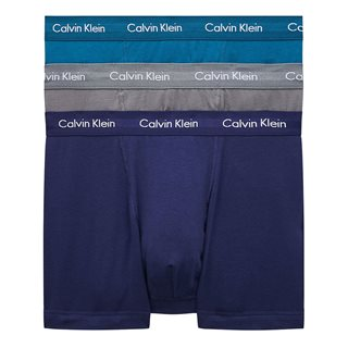 Calvin Klein Astral Aura / Corsair / Grey Smoke 3 Pack Trunks - Cotton Stretch