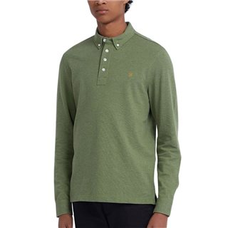 Farah Winter Balsam Ricky Long Sleeve Polo Shirt