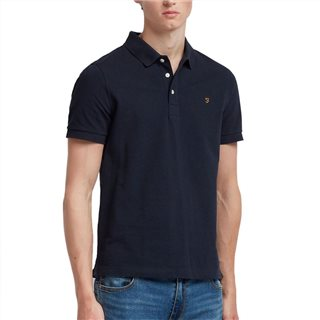 Farah Navy Blanes Short Sleeve Polo Shirt