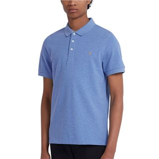 Farah Blue River Blanes Short Sleeve Polo Shirt